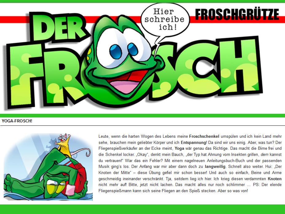 Yogafrosch Froschgruetze