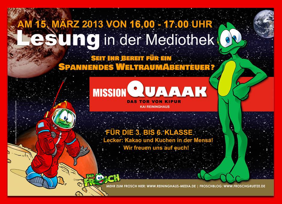 Frosch-Lesung Plakat (c) Kai Reininghaus