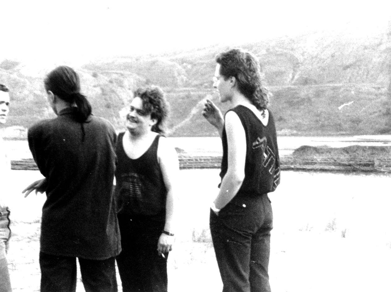 The Real Deal 1988 bei einer Fotosession in einem ehemaligen Tagebau in der Nähe von Leipzig
