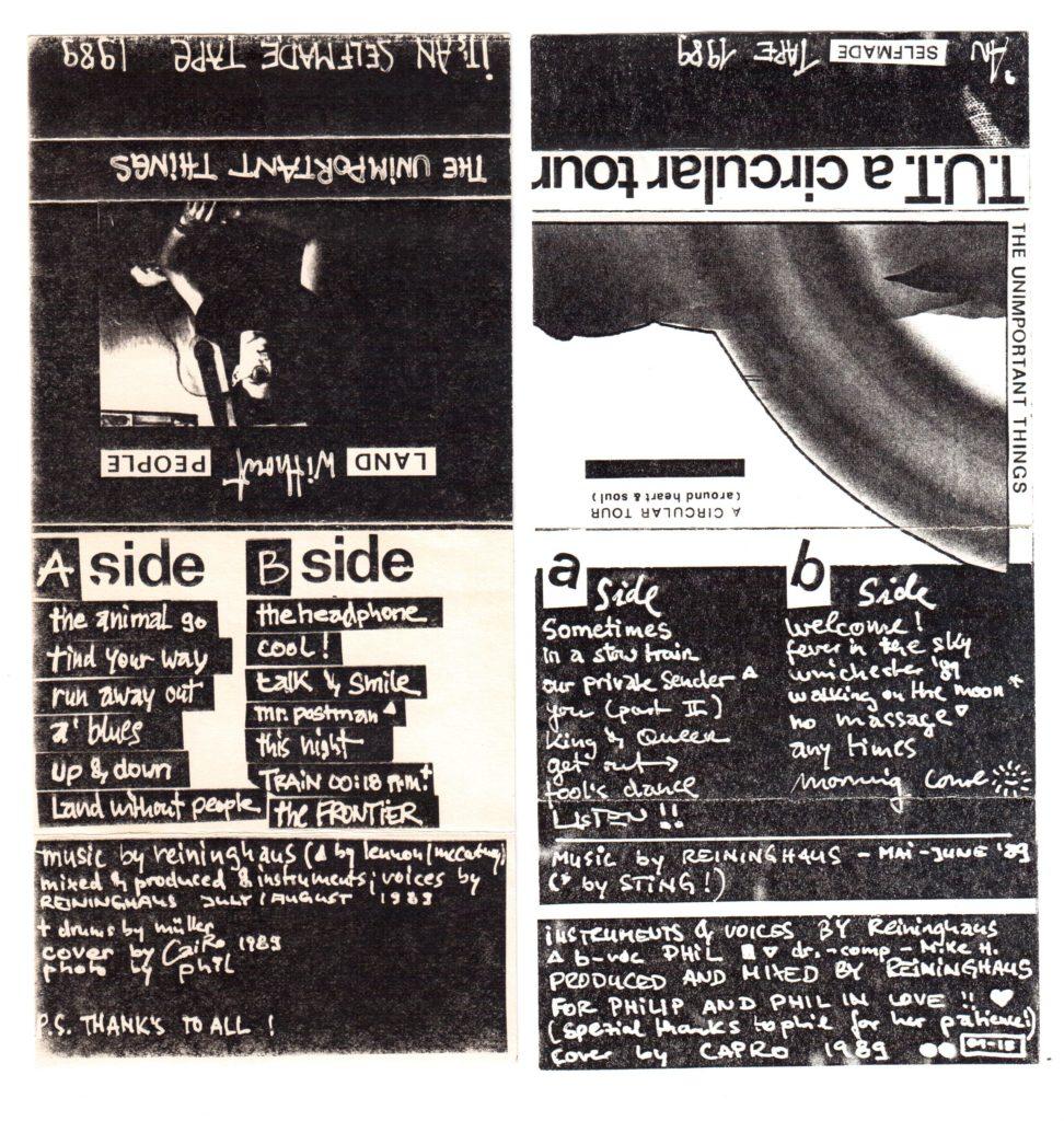 Die ersten beiden TUT Tapes von 1989