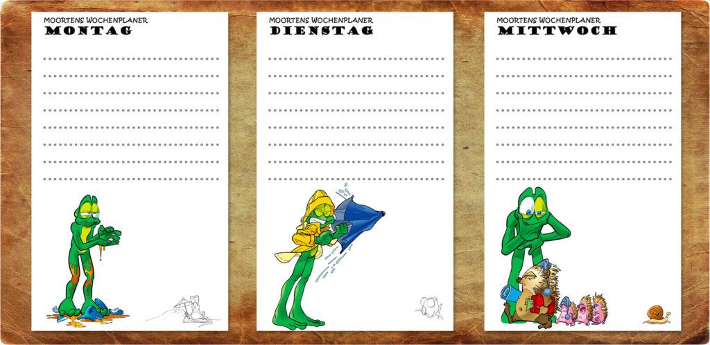 Moortens Wochenkalender - Super Zugabe im Taschenbuch der Mission Quaaak Band 2